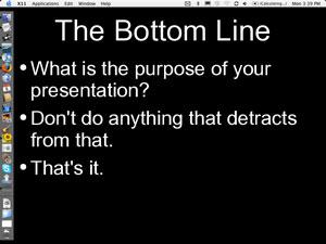 Good PowerPoint Rule 1